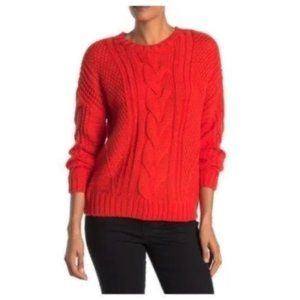 NWT One A Mixed Knit Crew Neck Sweater Size M